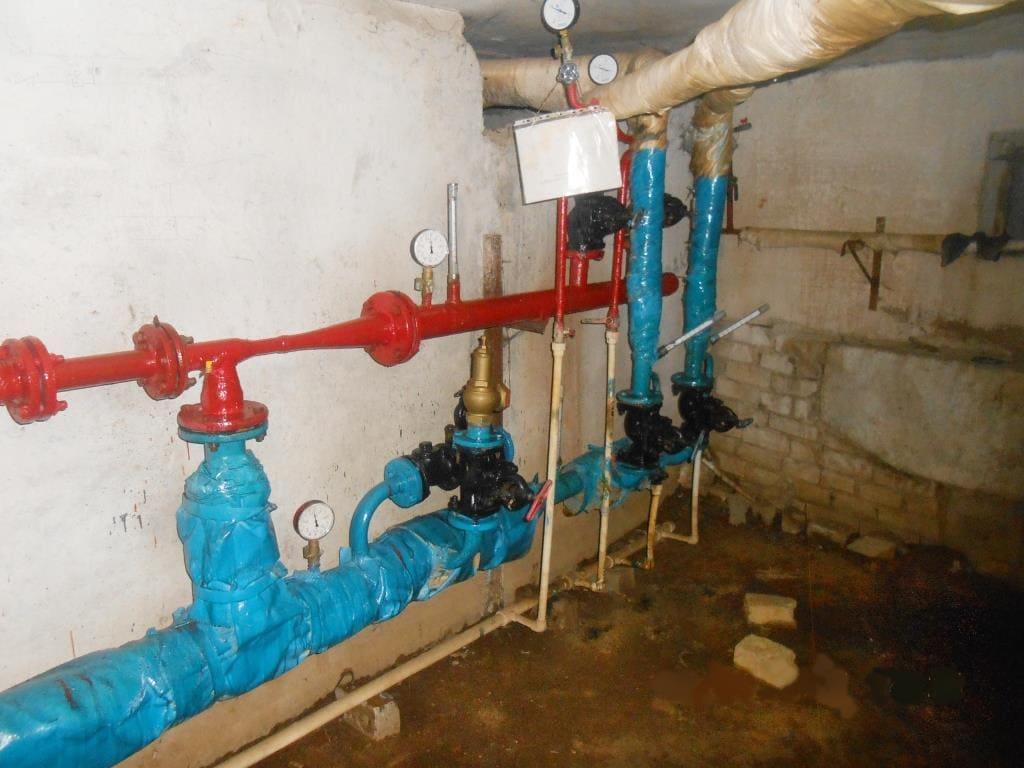 Тепловые системы до реконструкции